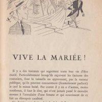 Pour rire n°9 Vive la mariée ! 1