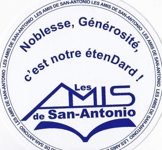 Badge autocollant Les Amis de San-Antonio