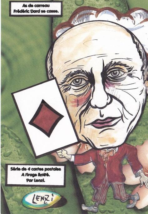 Frédéric Dard As de carreau Série de 4 cartes