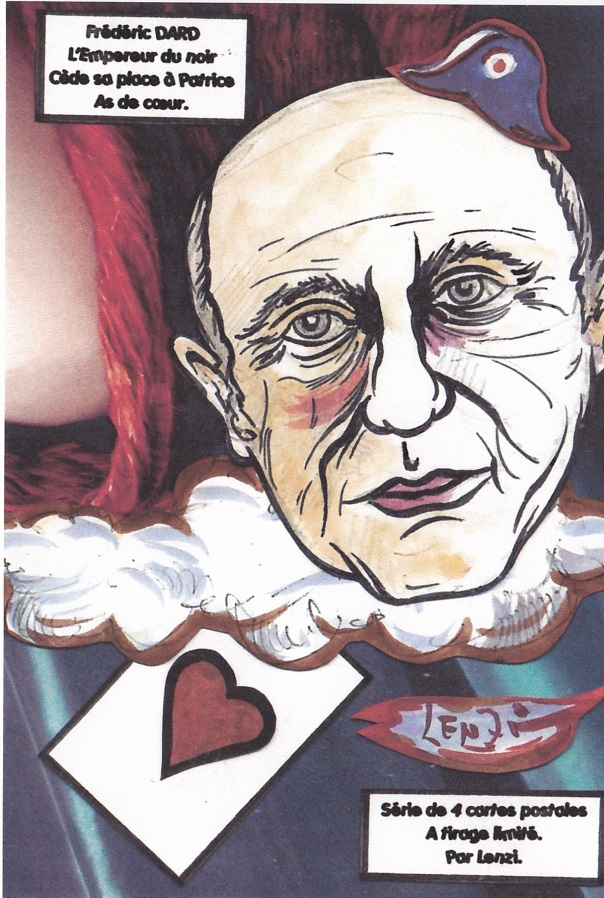 Frédéric Dard As de coeur Série de 4 cartes