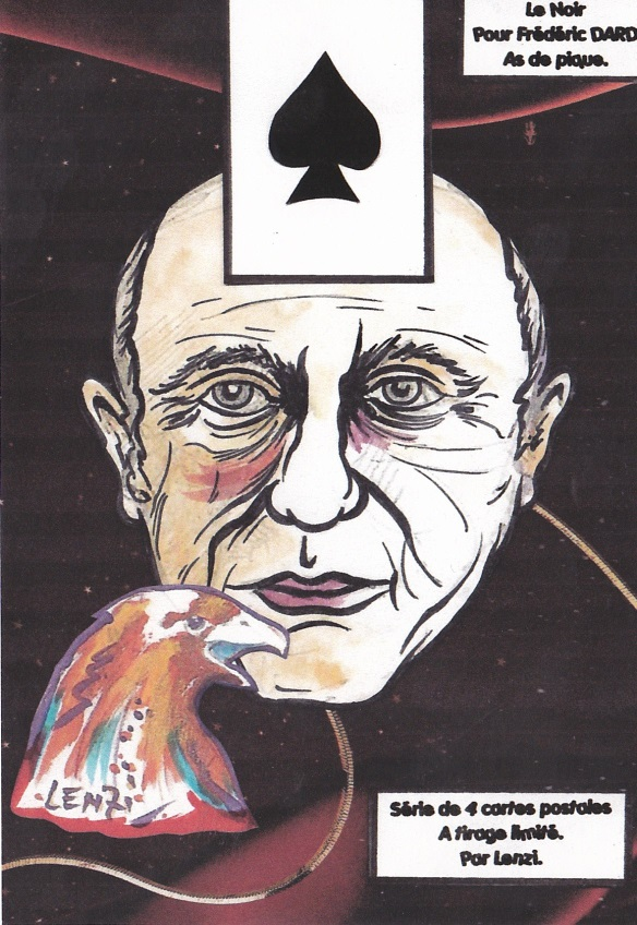 Frédéric Dard As de pique Série de 4 cartes