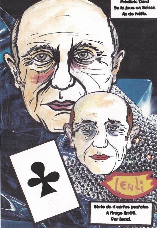 Frédéric Dard As de trèfle Série de 4 cartes