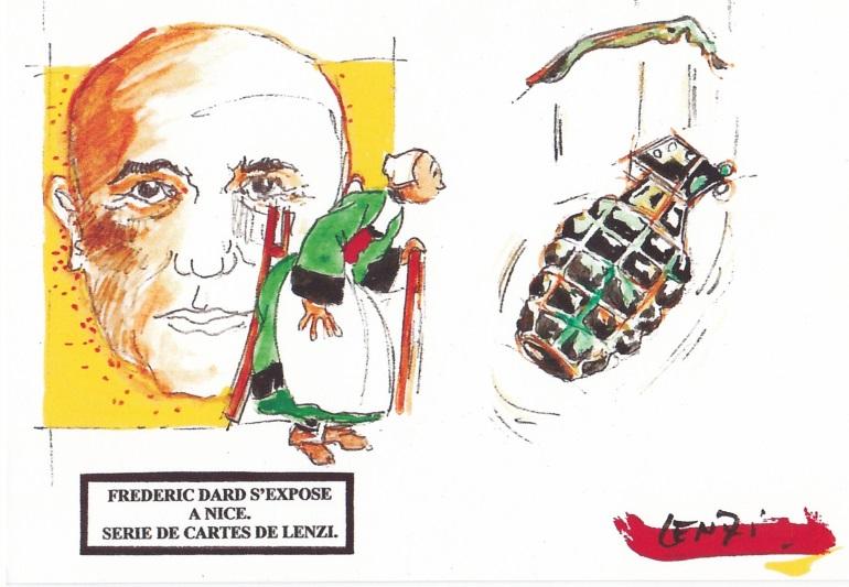 Frédéric Dard s'expose à Nice - Bécassine et grenade