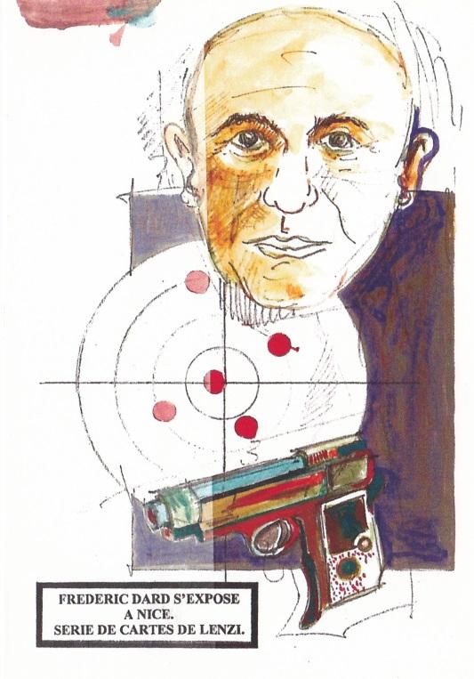 Frédéric Dard s'expose à Nice - Cible et pistolet