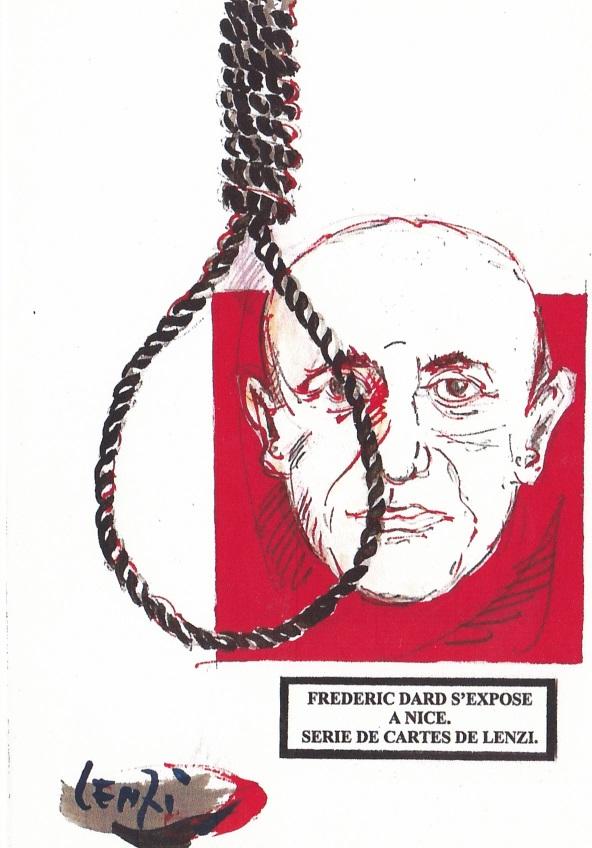 Frédéric Dard s'expose à Nice - Corde de pendu