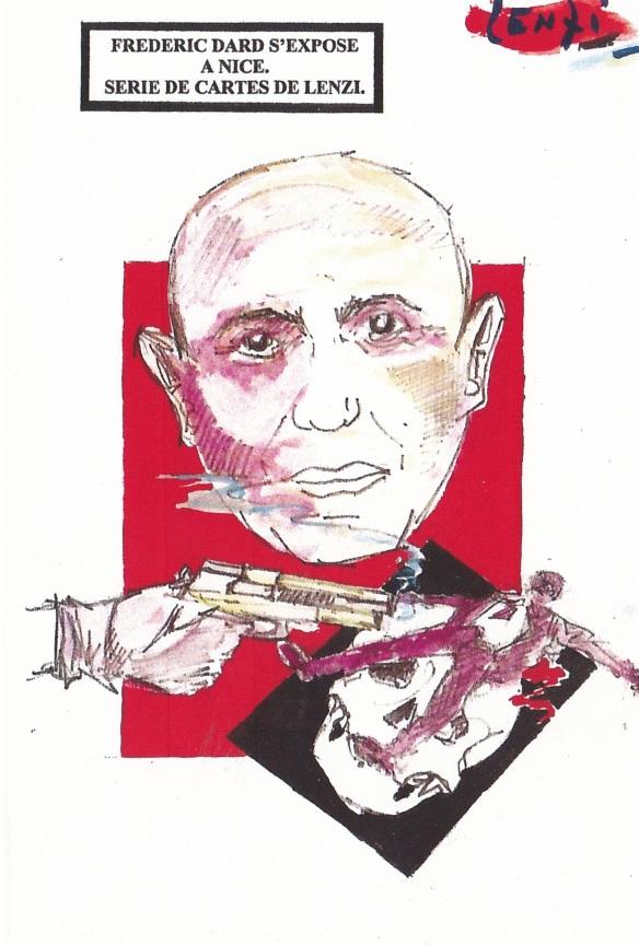Frédéric Dard s'expose à Nice - Pistolet et homme à terre