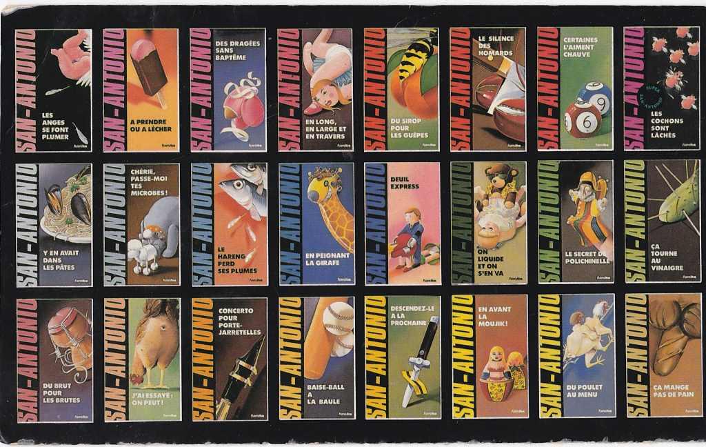 carte postale livres san antonio