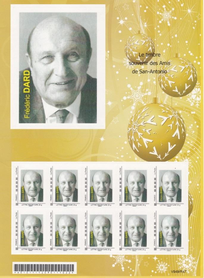 planche timbres souvenir Amis de San-Antonio