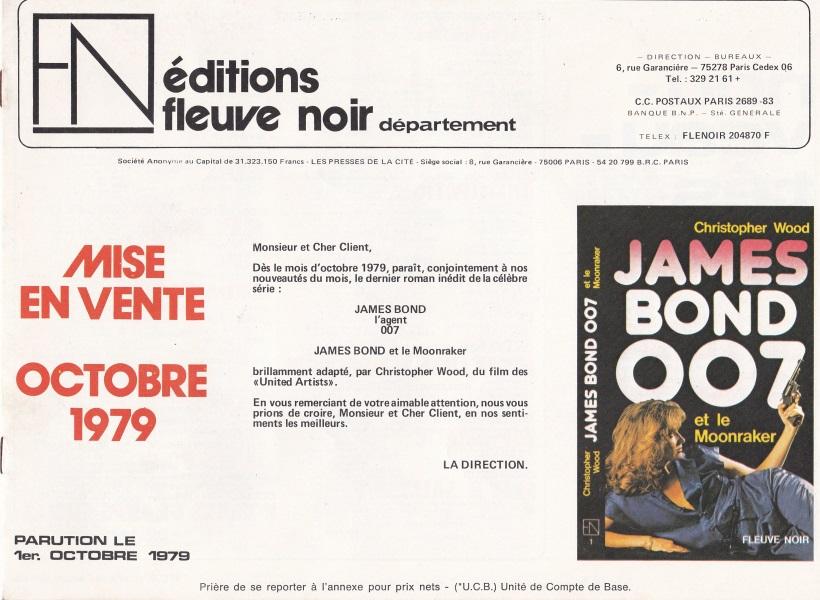 Annonce libraires parutions Fleuve Noir octobre 1979
