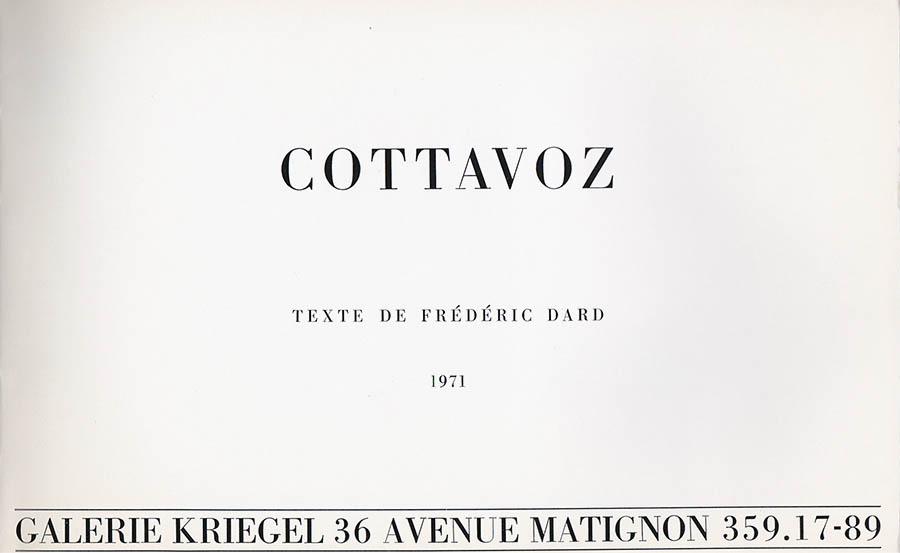 Cottavoz page de titre