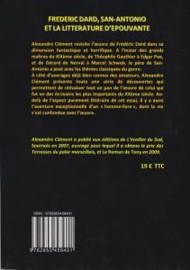 Frédéric Dard, San-Antonio et la littérature d'épouvante back