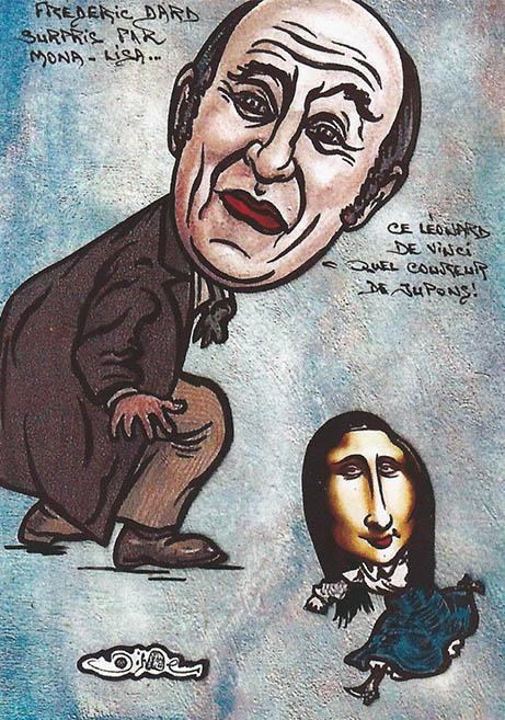 Frédéric Dard surpris par Mona-Lisa
