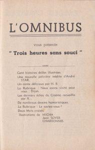 L'Omnibus n°2 sommaire