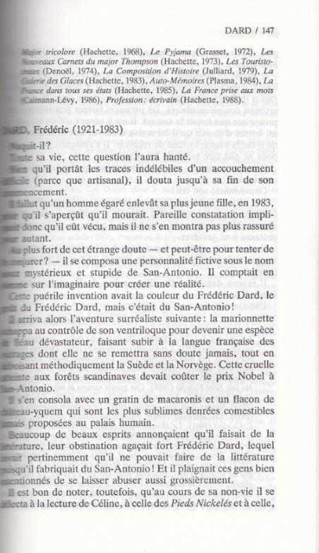 Le dictionnaire page 1 de Dard