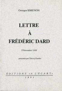 Lettre à Frederic Dard