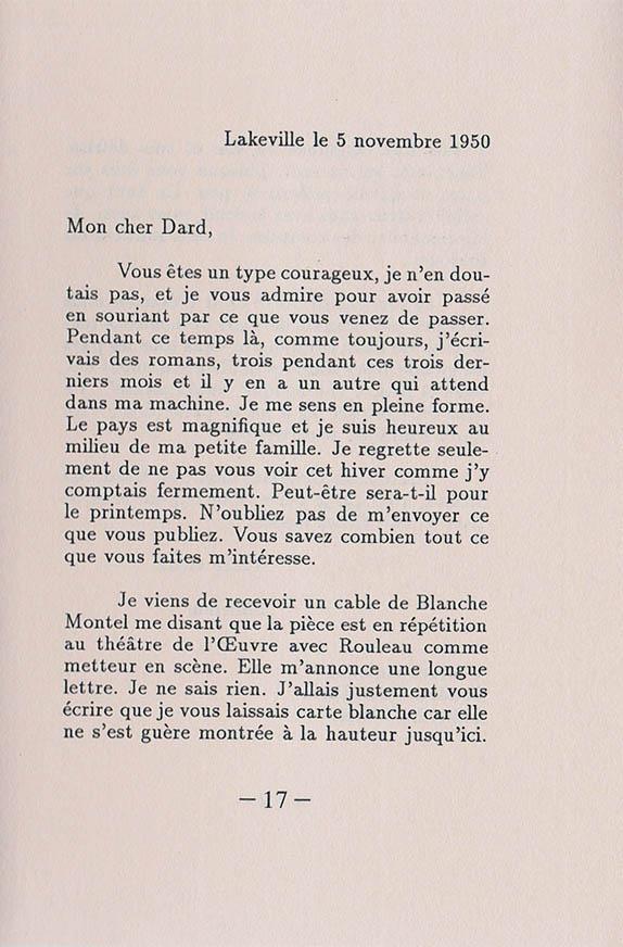 Lettre à Frederic Dard interieur 1