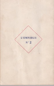 L'omnibus n°2 back
