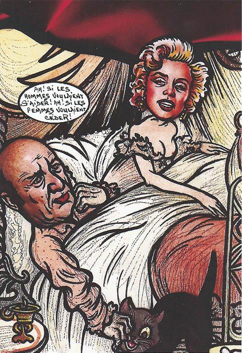 Marylin Monroe au lit avec Frédéric