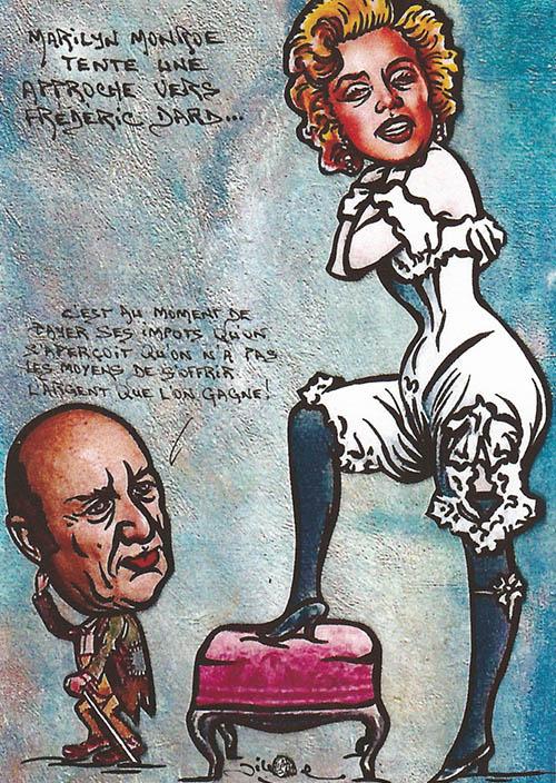 Marylin Monroe tente une approche vers Frédéric Dard