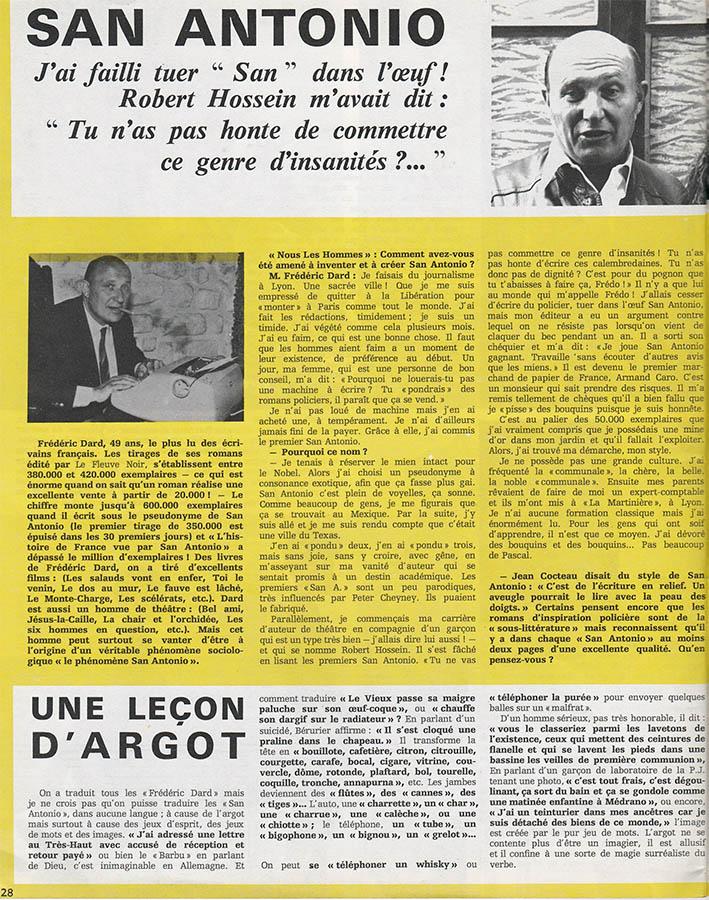 Nous les hommes n°2 page intérieure interview