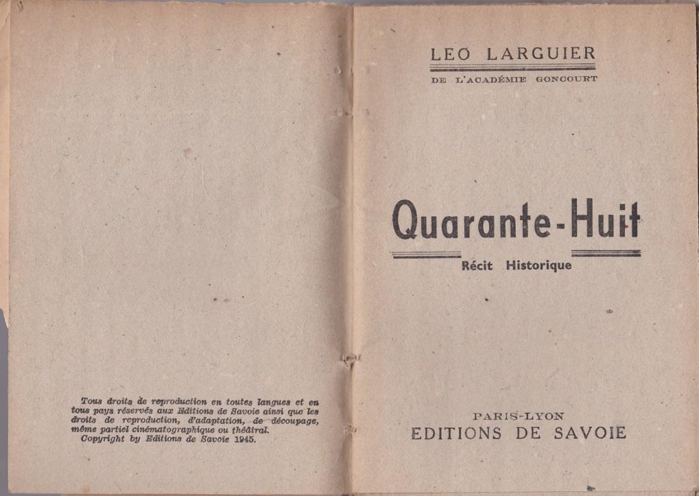 Quarante-Huit page de titre