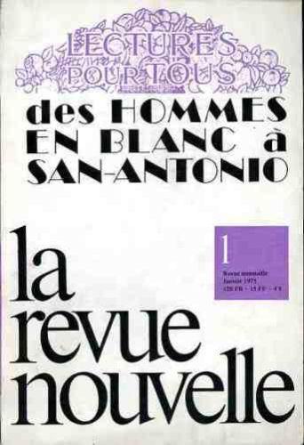La Revue Nouvelle janvier 1975