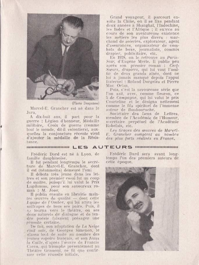 Programme Tartempion -Biographie des auteurs