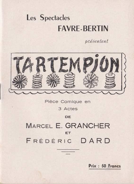 Programme de théâtre Tartempion