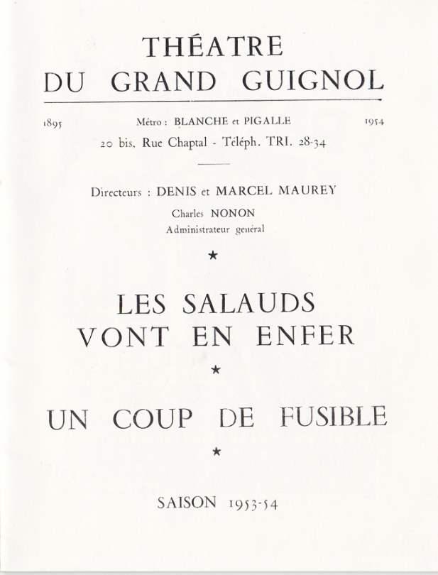 Saison 53-54 Théâtre du grand Guignol