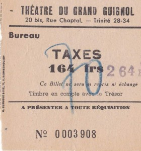 Ticket d'entrée