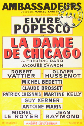 la dame de chicago afficehe 1