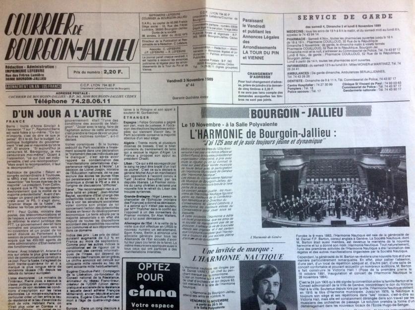 Courrier de Bourgoin-Jallieu n°44 -44ème année
