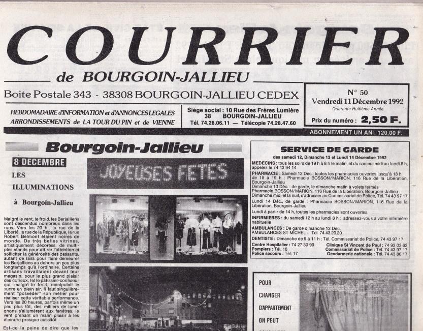 Courrier de Bourgoin-Jallieu n°50 -48ème année