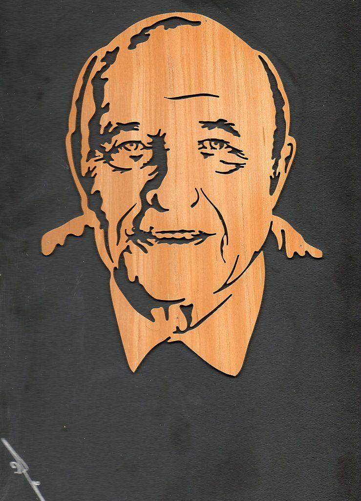 Portrait sur bois F.D.