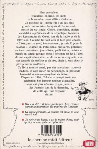 Coluche Pensées et anecdotes back