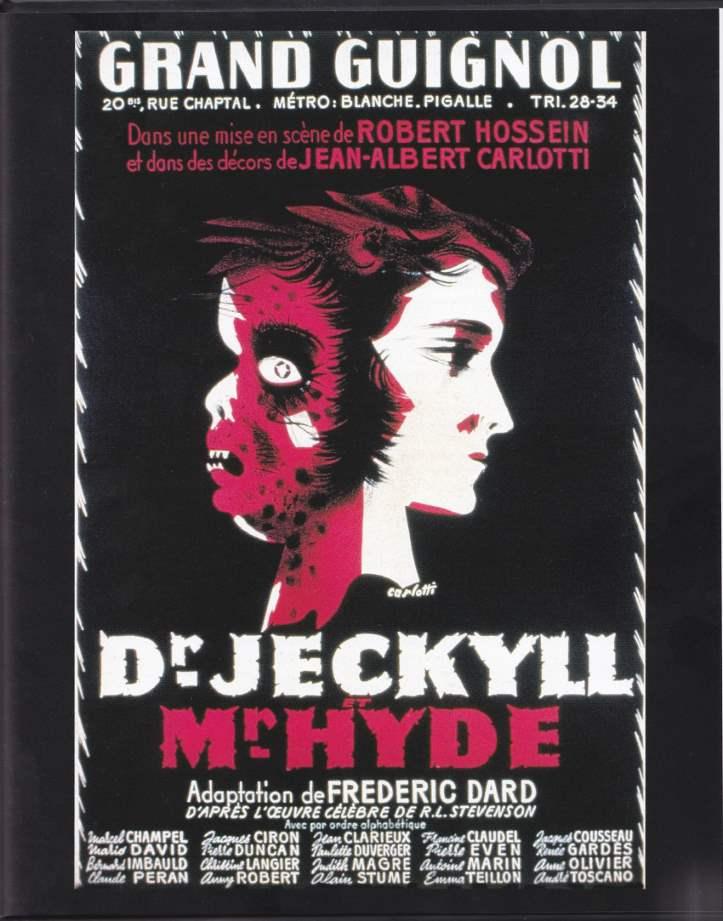 affiche théâtre Dr Jekyll et Mr Hyde