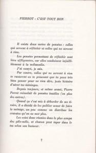 Pierre Perret Les Pensées préface