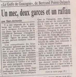 Le Monde n°13728 Texte San-Antonio