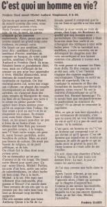 Libération n°1304 article F.D