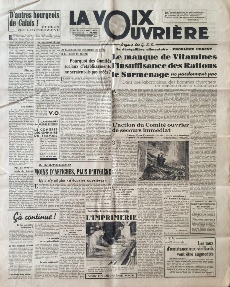 La Voix Ouvrière n°21 15 mai 43