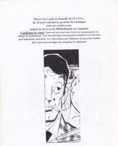 Catalogue Hommage à Frédéric Dard Janvier 2002 back