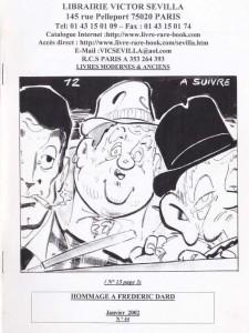 Catalogue Hommage à Frédéric Dard Janvier 2002