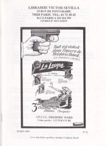Catalogue Librairie Victor Sevilla Mars 1995
