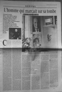 Le Monde 28 avril 2001