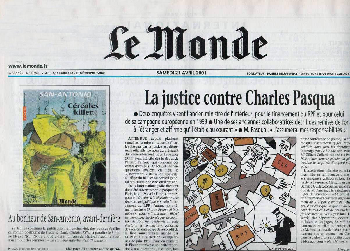 Le monde 21 avril 2001