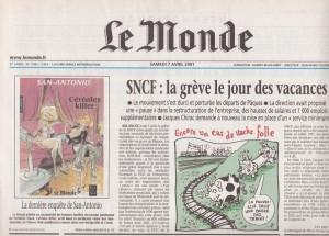 Le monde 7 avril 2001