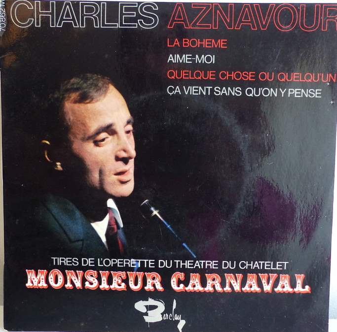 Monsieur Carnaval 33 tours