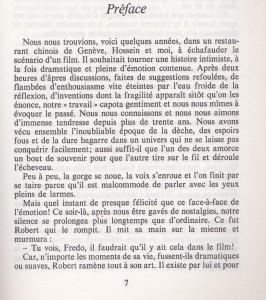 Préface du livre Robert Hossein
