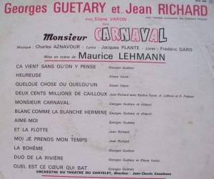 Monsieur Carnaval back