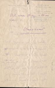 Dos de lettre en bleu 24 mars 1951